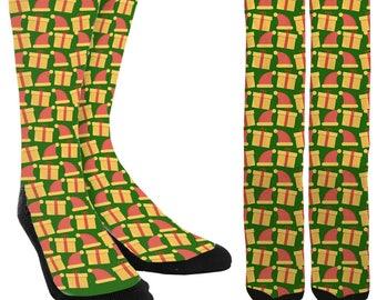 Holiday Crew Socks - Holiday Socks - Holiday Clothing - Christmas Socks -Unique Socks - Novelty Socks - Cool Socks - FREE Shipping E03