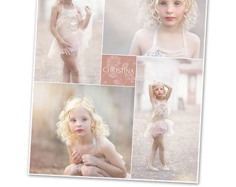 Collage Template - 16x20 Print Template - Blog Board - Storyboard Photoshop Template - 1069