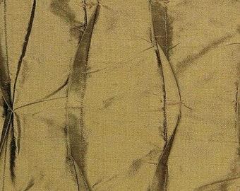 100% Silk Green Pleated Pintuck Fabric