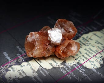 Raw Red Sputnik Aragonite Crystal Cluster