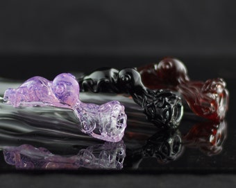 Cuttlefish Glass Chillum Bat Pipe in Your Choice of Color