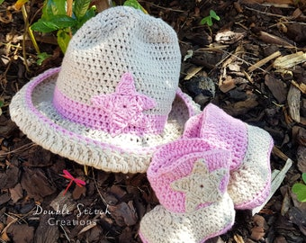Cowgirl Cake Smash Outfit / 1st Birthday Gift Set / Cowgirl Baby Shower Gift / Cowgirl Hat / Cowgirl Boots / Baby Photo Prop