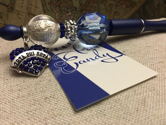 Zeta Phi Beta Inspired Beaded Pen