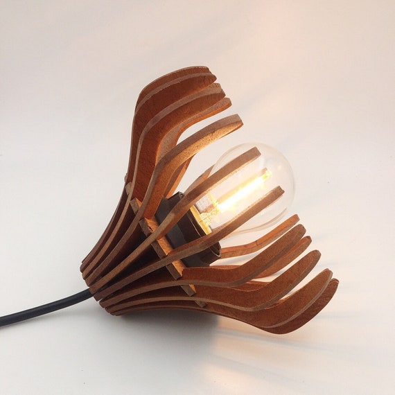 Small Wooden Pendamt Light or Desk/Table Lamp