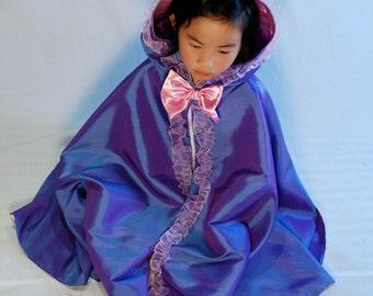 Girls Princess Fairy Cape- Iris Shimmer