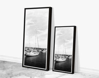 Black and White Nautical Art, Large Wall Art, Boat Photography, Modern Urban Art Prints, Nautical Wall Art