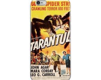Tarantula Spider Retro Vintage Poster iPhone Case - All Sizes