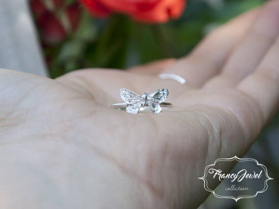 Butterfly, silver butterfly, silver ring, pure silver ring, animal ring, 999 fine silver, made in Italy, birthday gifts, boho chic rings
