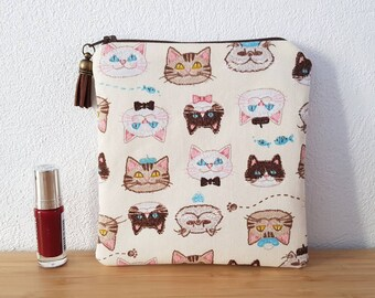 Makeup cats pouch fleece to protect your makeup or your small business