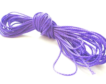 Polyester yarn - cord pacifier 1.5 mm-purple