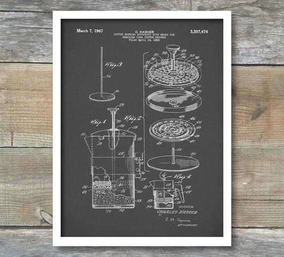 Patent prints coffee pot patent french press coffee pot te gusta este artculo malvernweather Images