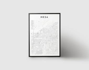 Mesa Map Print