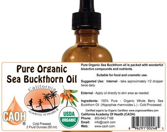 Sea Buckthorn Oil Pure and Organic