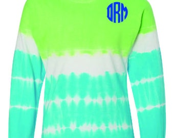 Tie dye Jersey long sleeve tees
