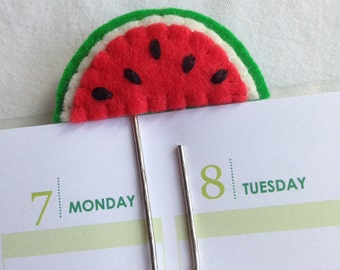 Felt Paperclip - Watermelon - Planner - Bookmark ~~ Erin Condren / Filofax / Kikki K