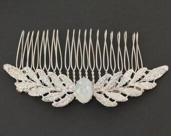 Vintage Hair Comb, Bridal Headpiece, Bridal Hair Comb, Bridal Hair Piece, Art Nouveau Hair Comb, Wedding Headpiece, Bridal Gatsby Headpiece
