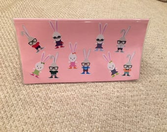 Fun checkbook covers that fit either single or duplicate checks and register
