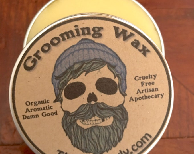 Grooming Wax Men's Grooming, Mustache Beard Hair Styling, Pomade, Organic Aromatic Effective 1 oz NEW SCENTS for the Holidays Beard Mustache
