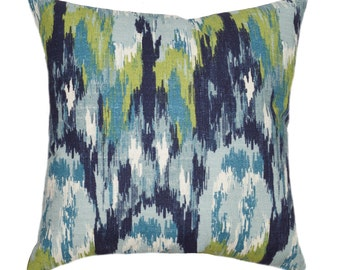 Premier Prints Ikat Craze Birch Frost Abstract Print Home Decor Decorative Throw Pillow Cover