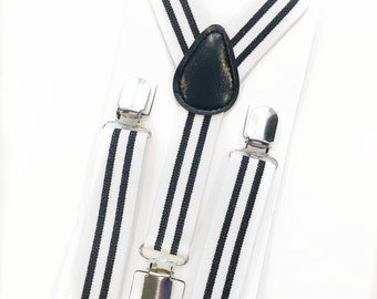 white and black stripe suspenders,boy suspenders,baby suspenders,wedding suspenders,toddler suspenders,birthday suspenders,photo prop