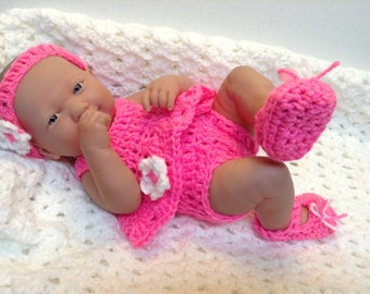 14 Inch Doll clothes,9 inch  doll clothes,Pink Set. Shirt,bottoms,shoes,Headband