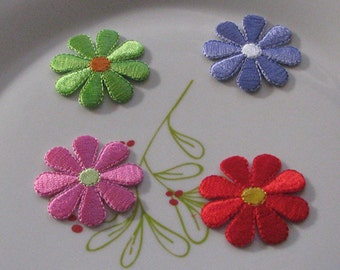 Bulk Lot flower collection 32pcs Pretty flower  embroidered iron on patch  about   3.8 cm