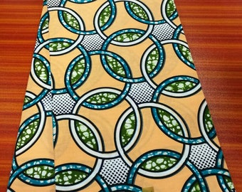 High Quality Ankara Fabric/ African Wax Fabric/ Holland Wax Fabric Concentric Circles Design Wax Print Fabric - SUMMER EXCLUSIVE
