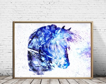Horse Decor, Mothers Day, Gift For Her, Gift For Him, Horse Print, Horse Painting, Animal Print, Animal Art, Horse art, Horse Tapestry