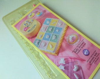Vintage Wilton Fondant  Mold  New  Old Stock. 12 Designs . Complete instructions. Wonderful Baby Fun