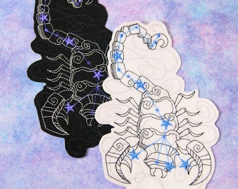 Scorpio - The Scorpion- Constellation Iron On Embroidery Patch MTCoffinz - Choose Size