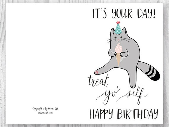 printable birthday cards black and white