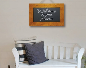 Welcome to our Home, Wall Decor, Wall Art, Home Art, Home Decor, Living Room Art, Dining Room Art, Entryway Art, Decor, Art, Signs