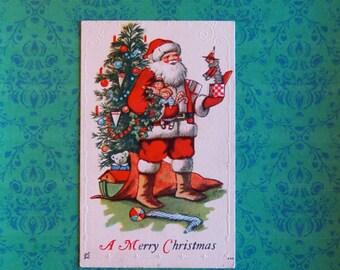Vintage Christmas Santa Claus Post Card