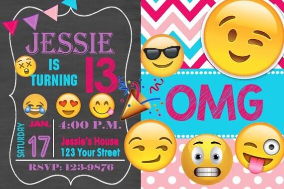 Invitation danniversaire emoji emoji invitation chevron - Image de smiley a imprimer ...