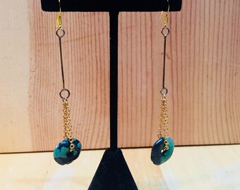 Turquoise Donut Earrings