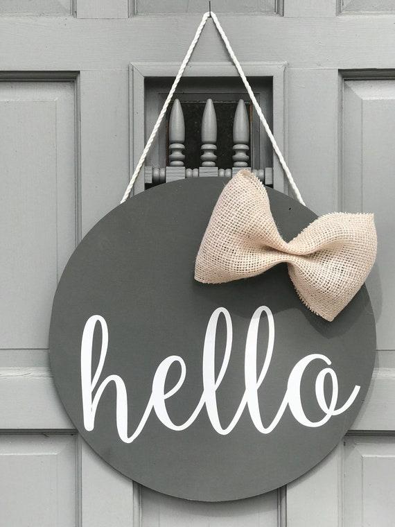 Hello Door Hanger