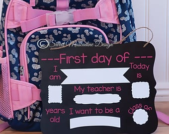 Reusable Back to School Dry Erase Chalkboard