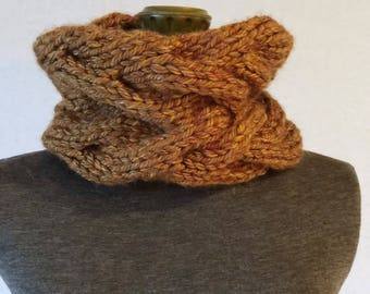 Hand Knit Neck Warmer, cable design Neck Warmer, Chunky Neck Warmer,Women's Winter Accessories