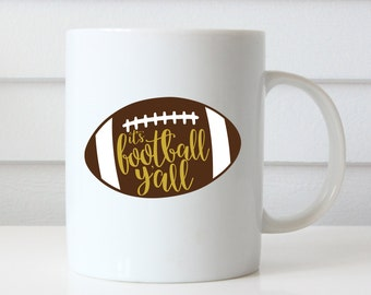 Football Mug, Football Coffee Mug, Football Coach Gift, Football, Football Gifts, Football Wedding, Football Party, Football Coach, Keepsake