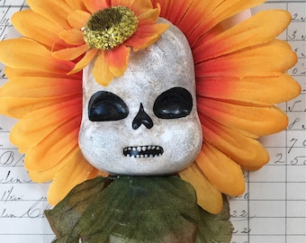 Skelly fleur ornement/mur hsnging