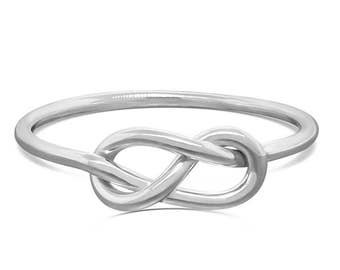 Sterling Silver Infinity Ring - Celtic Knot Ring - Eternity Ring - Promise Ring for Her - Figure 8 Knot Ring - Gift for Her