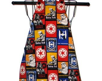 Childs Apron Kids Ages 3 to 8 Star Wars B Reversible Adjustable