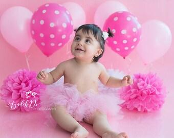 Pink Baby Newborn Tutu - Pink Cake Smash Tutu - Photo Shoot Photo Prop Tutu - Pink Birthday Party - Baby Naming Tutu