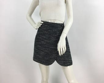90s mini skirt/chapter one vintage mini/tweed vintage skirt