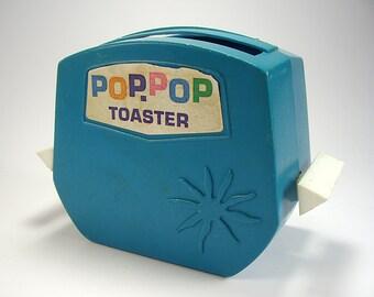 Vintage Pop Pop Toy Toaster, Blue, Kids Toys