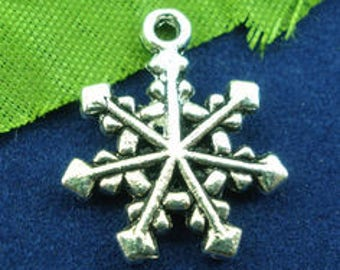 set of 5 20X16mm snow flake charm