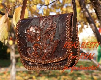 SALE 40% Only for first buyers! leather tote,bag, leather laptop bag, leather handbag, leather clutch, tooled leather,Carved bag