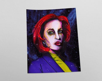 Dana Scully X Files Fan Art Print