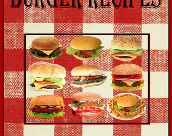 274 Burger Recipes E-Book Cookbook Digital Download