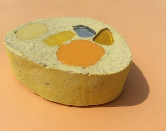 Block / paperweight / book / ornament / yellow